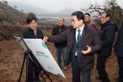 설 앞두고 태풍 피해지역 오곡실마을 찾은 허성무 창원시장
